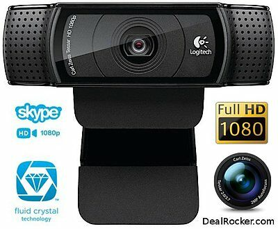 Logitech HD Pro Webcam C920 1080p video Autofocus Carl Zeiss 15MP(Support Local)