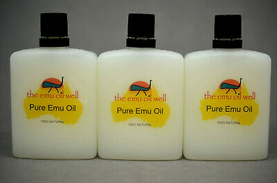 100% Pure Australian Emu Oil Perfect For Skin/Hair/Muscles/Joints 60 ml x 3