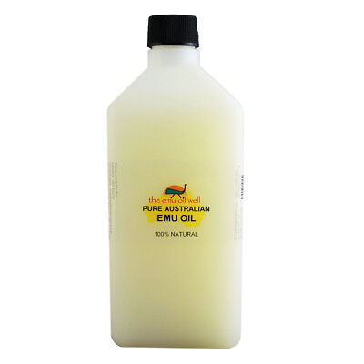 100% Pure Australian Emu Oil Perfect For Skin/Hair/Muscles/Joints 1 Litre