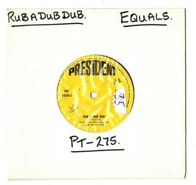 """The Equals.rub A Dub Dub / After The Lights Go Down Low.uk Orig Soul 7"""".Ex"""