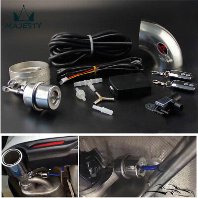 """Exhaust Control Valve Set With Vacuum Actuator CUTOUT 3"""" 76mm Pipe CLOSE STYLE"""