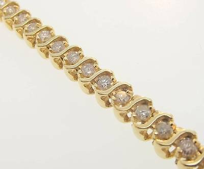 14Kt Yellow Gold 3 Cttw Diamond Tennis Bracelet 6.5 Cert (2B 301-10105)