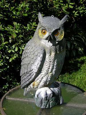 Vintage Garden Owl Decoy From an Old Farm Made In Italy Carry Lite Milwaukee~W