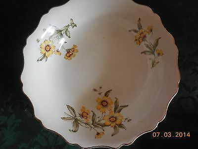 CHINA THE HALLMARK CANONSBURG OF QUALITY 22KT GOLD RIM AUTUMN MIST PATTERN BOWL