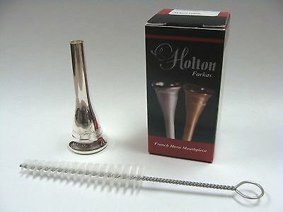 Holton Farkas MD Medium Deep Cup French Horn Mouthpiece w/ Free Mouthpiece Brush