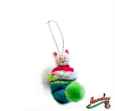 """2012 ANNALEE DOLLS 3"""" WINTER WHIMSY KITTY ORNAMENT, FREE S/H, NEW"""