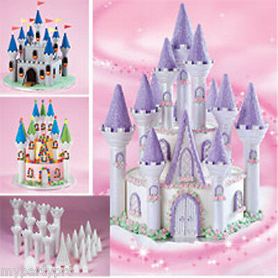 FROZEN Snowflake Castle Cake Decorating Kit BIRTHDAY PARTY supplies favors