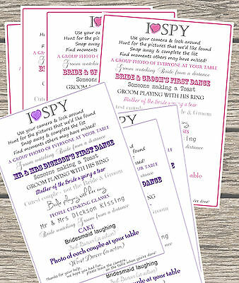 FULLY PERSONALISED - WEDDING PHOTO REQUEST TABLE CARD - Text AND Colour choice