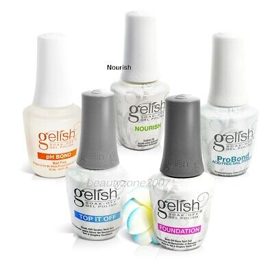 Nail Harmony Gelish Top coat Base Coat Ph Bond 0.5oz *Chose any one*