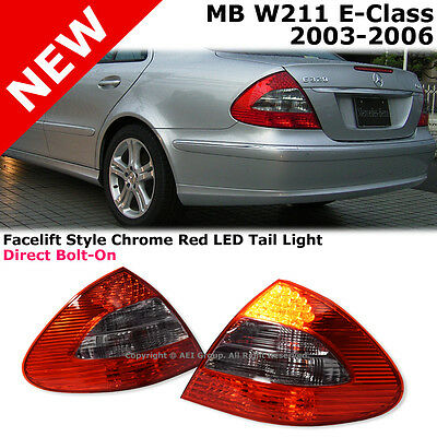 MB E-Class W211 03-06 Rear Bumper Tail Light Lamp Red Clear Facelift Conversion