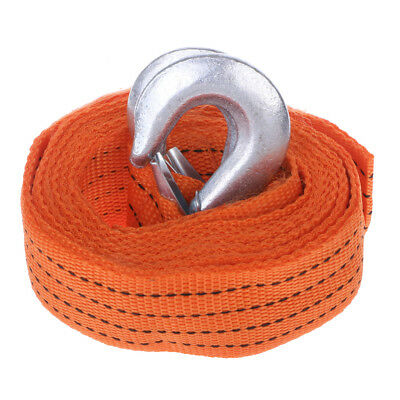 Car Tow Cable Heavy Duty Towing Pull Rope 4M 5 Ton Strap Hooks Van Road Recovery