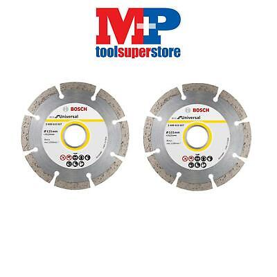 Bosch 2608602792 Angle Grinder Diamond Cutting Disc 115Mm **pack Of 2**