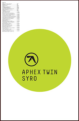 APHEX TWIN Syro Ltd Ed Discontinued RARE Poster +FREE Electronica/Dance Poster!