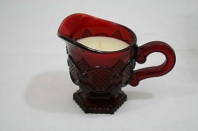 Avon 1876 Cape Cod Collection Ruby Red Creamer Meadow Morn Candle