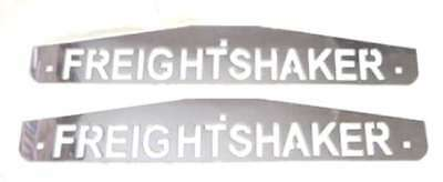"""mudflap plates(2) 4x24"""" FREIGHTSHAKER chrome bolt on mount for Freightliner rear"""