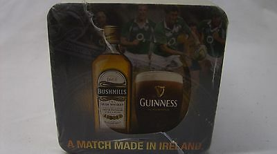 (125) Bushmills & Guinness - 2013 Rugby Schedule Cardboard Drink Coaster *new*