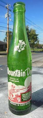 Mountain Dew Hillbilly Bottle Filled By Ed & Gene 10 Oz White Head Rare Mt. Dew