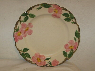 "Vintage Franciscan Desert Rose 9 1/2"" Luncheon Plate VFC Brown TV Mark"