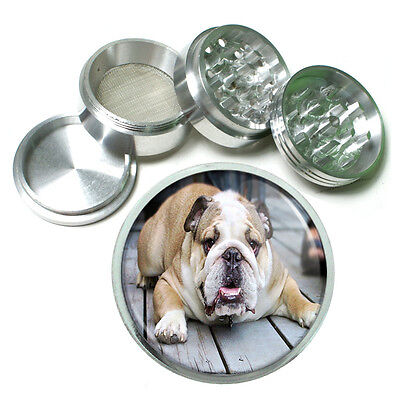 Dog Bulldog 02 Aluminum Herb Tobacco 4pc Grinder