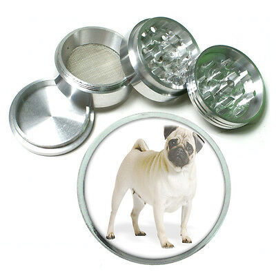 Dog pug 03 Aluminum Herb Tobacco 4pc Grinder