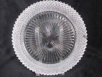 """Vintage Anchor Hocking Glass Miss America Crystal Clear Dinner Plate 10-1/4"""""""