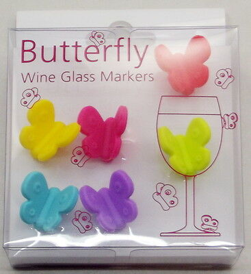 Silicon Butterfly Wine Glass Markers