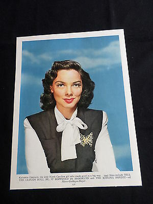 Kathryn Grayson- Film Star - 1 Page  Picture- Clipping/cutting