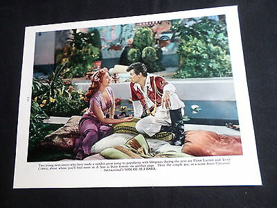 Tony Curtis - Piper Laurie - Film Stars - 1 Page  Picture- Clipping/cutting