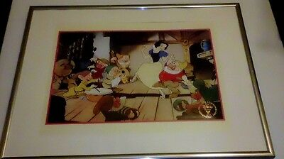 Disney Snow White and the Seven Dwarfs Lithograph matted and framed from 1994