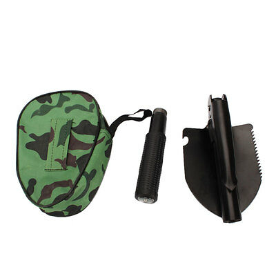 Camping Foldable Army Shovel S Survival Compact Tool With Compass + Carry Bag