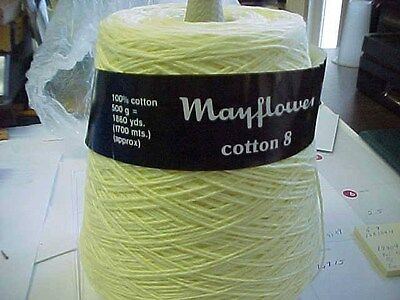 Mayflower Cotton 8 Soft Yellow Color - Gorgeous Yarn - 4/8 Yarn Size