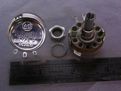 2 Mil-Spec Allen Bradley Type J 10K 10% Potentiometers