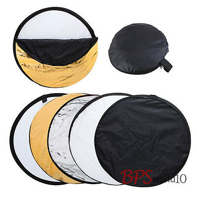 "43"" 110cm 5-in-1 Photo Photography Studio Light Mulit Collapsible Disc Reflector"