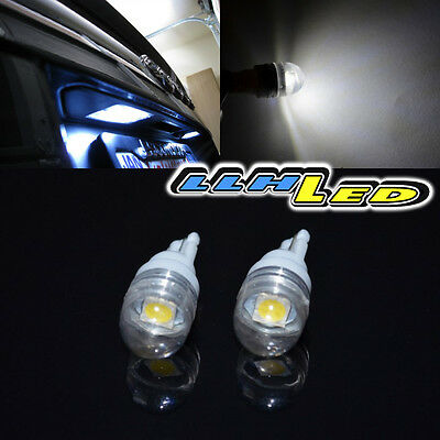 2X 7000K WHITE 1W HIGH POWER 194/168 SMD LED LICENSE LIGHT BULB WITH COVER