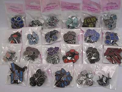 Brads Words Shaped Paper Fasteners 1 x Pack, 23 Designs to choose from