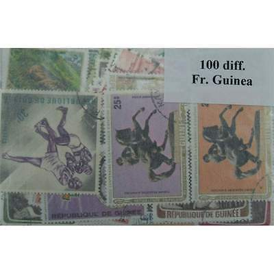 French Guinea, 100 stamps in packets. (ww088)
