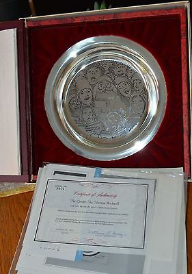 1972 Franklin Mint Christmas Plate The Carolers By Norman Rockwell