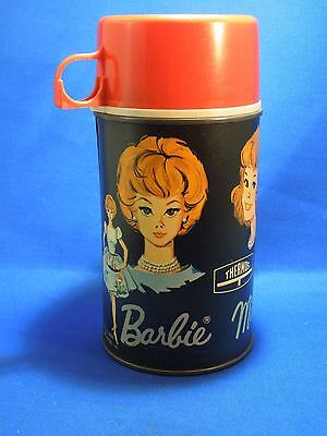 Vintage 1965 Barbie Midge and Skipper Metal Thermos Brand Half Pint Size