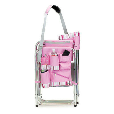 PICNIC TIME   Sports Chair   Pink W/Stripes 809 00 102 Folding Chair NEW    $83.95 | PicClick