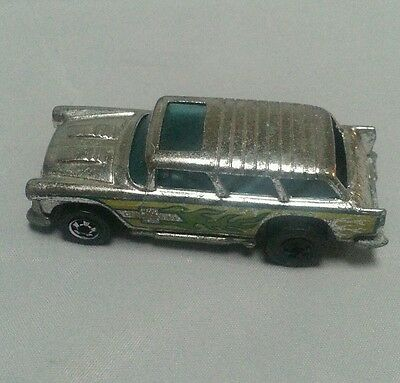 Vintage 1969 Hot Wheels Chevy Nomad Alive 55 1:64 Metal Chrome (Hong Kong)