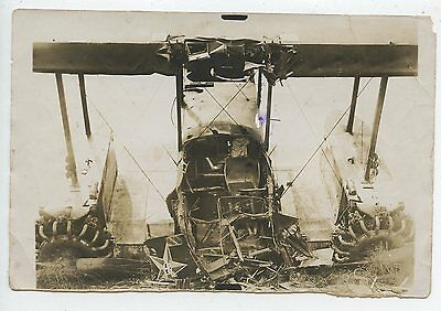 PHOTO AVIATION / AU DOS CHARTRES 1930 / ACCIDENT GOLIATH / Quelques plis