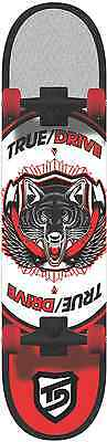 """True/Drive Skateboard Complete - 7.75""""x31.375"""" - 7ply- Abec7 Carbon- Urban Wolf"""