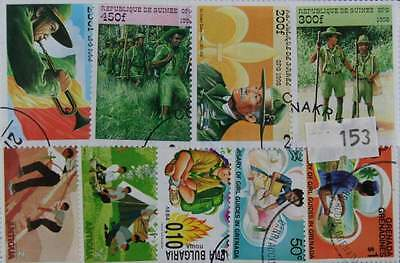 50  Boy scouting stamps in packet  (153)