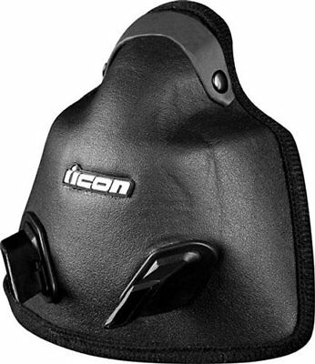 Icon Replacement Breath Box for Variant Dual Sport Helmet Black