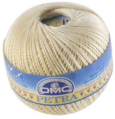 DMC Petra Crochet Thread - Colour: ECRU - Cotton - Size 3 - 100g