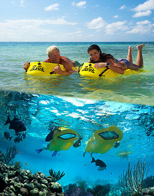 """ZAYAK SEA SLED, MODEL A1-DLX, high visibility yellow """"Dry Snorkel"""" w/out a mask"""