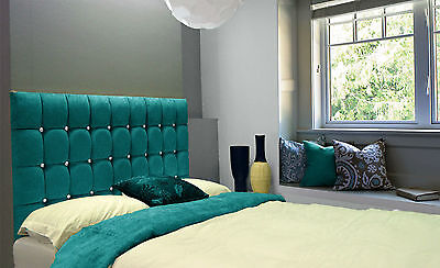 Bill High Diamante 4FT6 Double Wall Headboard Chenille All Heights & 13 Colours