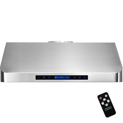 """30"""" Stainless Steel Under Cabinet Range Hood Touch Panel Kitchen Cooking Fan"""