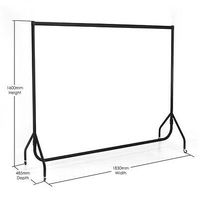 2 x 6ft Clothes Rail Heavy Duty Hanging Garment Display