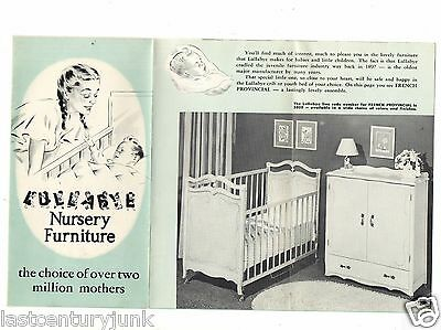 Lullabye Nursery Furniture Brochure 1956